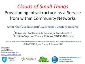 Slides for CNBuB 2013